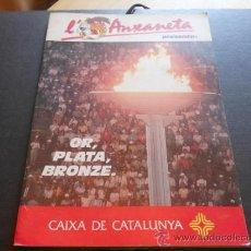 Coleccionismo Álbum: OR, PLATA, BRONZE. L'ANXANETA (CAIXA CATALUNYA 1988) COMPLETO. Lote 37585885