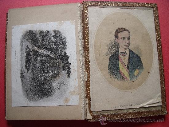Coleccionismo Álbum: ALBUM CON 36 GRABADOS AL ACERO.-RECUERDO DEL PERSONAL DEDICA A DON CARLOS PINEDA.-AÑO 1889. - Foto 8 - 37614564