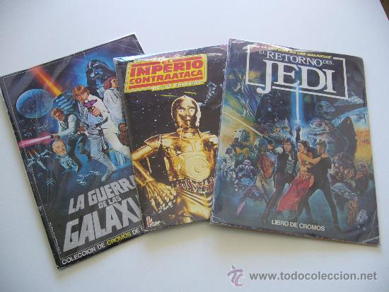LOTE DE 3 ALBUMS DE LA GUERRA DE LAS GALAXIAS. ORIGINALES, COMPLETOS Y EN BUEN ESTADO . STAR WARS (Coleccionismo - Cromos y Álbumes - Álbumes Completos)