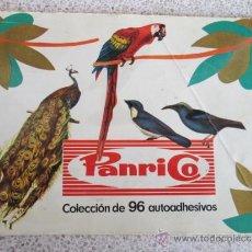 Coleccionismo Álbum: ALBUM DE CROMOS, PANRICO, 96 AUTOADESIVOS, PAJAROS, AVES, COMPLETO, 1972. Lote 38230890