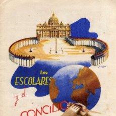 Coleccionismo Álbum: ALBUM LOS ESCOLARES Y EL CONCILIO AÑO 1962. Lote 38377396