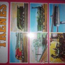Coleccionismo Álbum: TRENES - ALBUM DE CROMOS COMPLETO - EDICIONES SUSAETA - 1971. Lote 38890451
