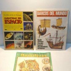 Coleccionismo Álbum: OFERTA LOTE 3 ALBUM CROMOS COMPLETOS. MARAVILLAS DEL ESPACIO, MAMIFEROS Y BARCOS DEL MUNDO. VER . Lote 39038303