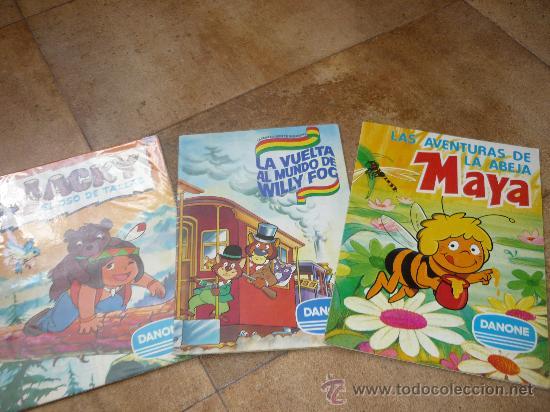 3 ALBUMES DANONE MAYA WILLY FOG Y JACKY EL OSO DE TALLAC COMPLETOS AÑO 1.978 (Coleccionismo - Cromos y Álbumes - Álbumes Completos)