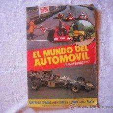 Coleccionismo Álbum: EL MUNDO DEL AUTOMOVIL ALBUM BIMBO 1977.COMPLETO A FALTA DE UN CROMO. Lote 97248455