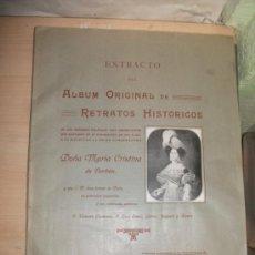 Coleccionismo Álbum: ALBUM RETRATOS HISTÓRICOS MARIA CRISTINA DE BORBÓN. COMPLETO 12 LÁMINAS. AÑO 1912. HISTORIA. PINTURA. Lote 39270363