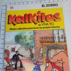 Coleccionismo Álbum: ALBUM ADHESIVOS: KALKITOS 21 EL ZORRO MJ.E. Lote 39704721