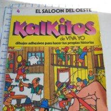 Coleccionismo Álbum: ALBUM ADHESIVOS: KALKITOS 4 EL SALOON DEL OESTE MJ.E. Lote 39706694