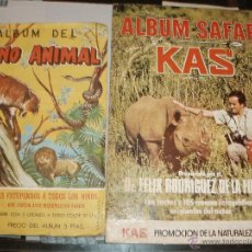 Coleccionismo Álbum: ALBUM SAFARI KAS Y REINO ANIMAL COSTA COMPLETOS. Lote 39657579