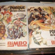 Coleccionismo Álbum: ALBUM EL PORQUE DE LAS COSAS 1 Y Nº 2 COMPLETOS BIMBO. Lote 39692618