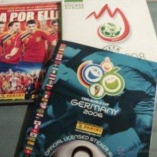 Coleccionismo Álbum: LOTE ÁLBUM CROMOS GERMANY 2006, UEFA EURO 2008 AUSTRIA Y SELECCIÓN ESPAÑOLA 2009. TODOS COMPLETOS!. Lote 39784264
