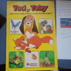 Coleccionismo Álbum: ALBUM COMPLETO TOD Y TOBY COMPLETO. Lote 39803115