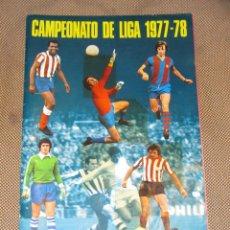 Coleccionismo Álbum: ALBUM CAMPEONATO DE LIGA 1977 - 78. EDITORIAL FHER. COMPLETO. . VER FOTOS. Lote 39821886
