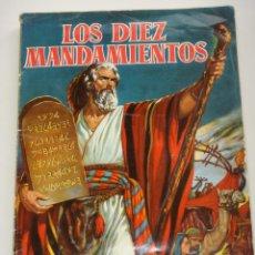 Coleccionismo Álbum: LOS 10 MANDAMIENTOS, ÁLBUM DE CROMOS COMPLETO, AÑO 1959. Lote 40019825