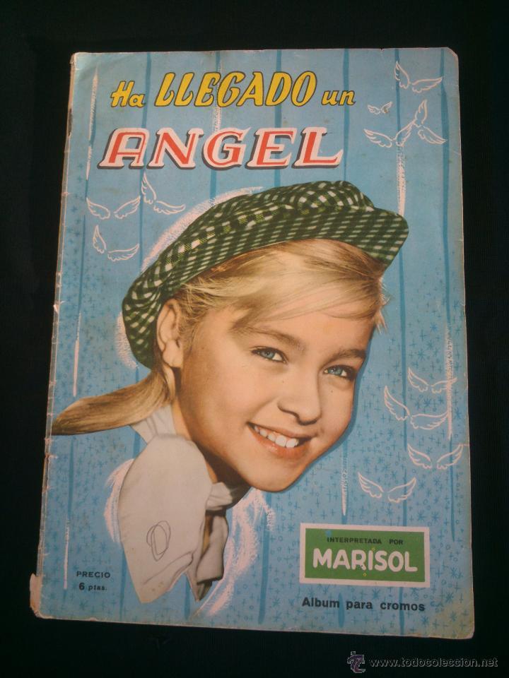 ÁLBUM DE CROMOS COMPLETO DE LA PELÍCULA DE MARISOL HA LLEGADO UN ANGEL EDT. FHER 1961 (Coleccionismo - Cromos y Álbumes - Álbumes Completos)