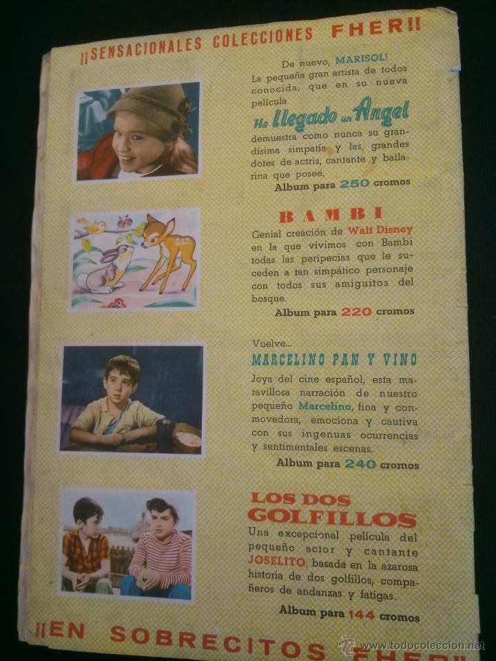 Coleccionismo Álbum: ÁLBUM DE CROMOS COMPLETO DE LA PELÍCULA DE MARISOL HA LLEGADO UN ANGEL EDT. FHER 1961 - Foto 2 - 40413727