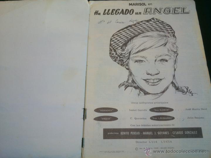 Coleccionismo Álbum: ÁLBUM DE CROMOS COMPLETO DE LA PELÍCULA DE MARISOL HA LLEGADO UN ANGEL EDT. FHER 1961 - Foto 3 - 40413727