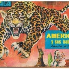 Coleccionismo Álbum: ALBUM MAGA. AMERICA Y SUS HABITANTES. COLECCION DE 252 CROMOS. COMPLETO.(ST/PN3). Lote 40446605
