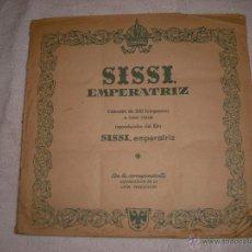 Coleccionismo Álbum: SISSI EMPERATRIZ EL ALBUM TIENE LOS 200 CROMOS PERO LE FALTAN LAS TAPAS. Lote 41136848