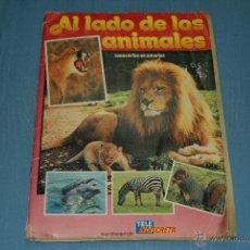 Coleccionismo Álbum: ALBUM COMPLETO AL LADO DE LOS ANIMALES AÑO 1985 DE TELEINDISCRETA. Lote 41313152