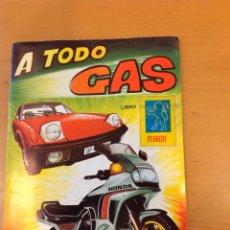 Coleccionismo Álbum: ALBUM DE CROMOS COMPLETO A TODO GAS EDITORIAL MAGA 1982. Lote 41386150