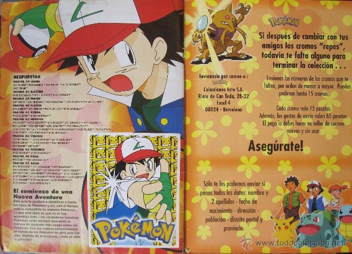 Coleccionismo Álbum: POKÉMON ALBUM CROMOS COMPLETO + POSTER COMPLETO ( STIKER ALBUM) - Foto 2 - 153475590