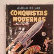 Coleccionismo Álbum: ALBUM DE CROMOS CONQUISTAS MODERNAS, EDITORIAL CRISOL, COMPLETO. Lote 41734833