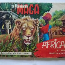 Coleccionismo Álbum: AFRICA Y SUS HABITANTES .-MAGA- COMPLETO-216 C MUY BIEN. Lote 42221179
