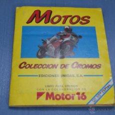 Coleccionismo Álbum: ALBUM COMPLETO DE MOTOS AÑO 1987 DE EDICIONES UNIDAS. Lote 42325664