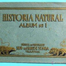 Coleccionismo Álbum: HISTORIA NATURAL ÁLBUM Nº 1. FÁBRICA DE CHOCOLATES HIJO DE MARCOS TONDA. VILLAJOYOSA, ALICANTE, S/F. Lote 42528386
