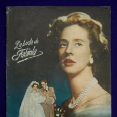 Coleccionismo Álbum: ALBUM LA BODA DE FABIOLA. COMPLETO. AÑO 1961. EDICIONES MANDOLINA (BILBAO), IMPRESO EN GRAFICAS FHER. Lote 42699471