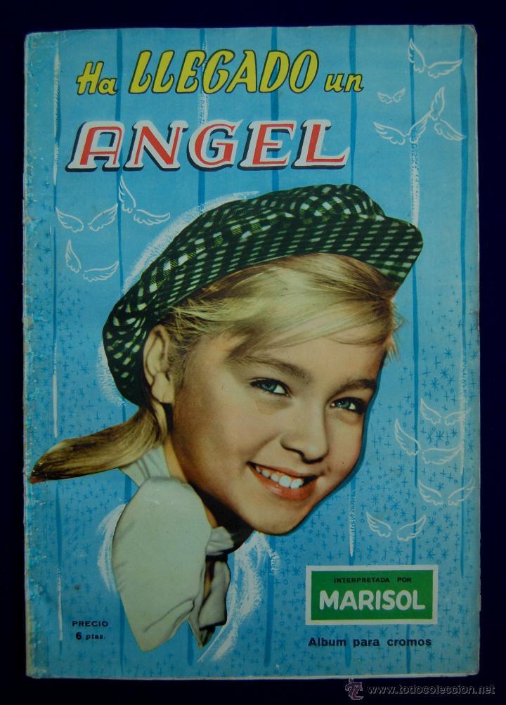 ALBUM HA LLEGADO UN ANGEL. MARISOL. COMPLETO. EDITADO POR FHER. AÑO 1961. (Coleccionismo - Cromos y Álbumes - Álbumes Completos)