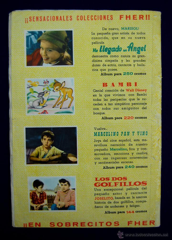 Coleccionismo Álbum: ALBUM HA LLEGADO UN ANGEL. MARISOL. COMPLETO. EDITADO POR FHER. AÑO 1961. - Foto 4 - 42699506