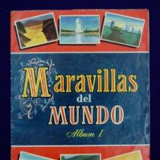 Coleccionismo Álbum: ALBUM MARAVILLAS DEL MUNDO. ALBUM Nº1. COMPLETO. EDICIONES BRUGUERA. AÑO 1956.. Lote 42699568