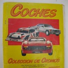 Coleccionismo Álbum: ÁLBUM DE CROMOS - COCHES - MOTOR 16 - COMPLETO - EDICIONES UNIDAS - AÑO 1986.. Lote 42791365