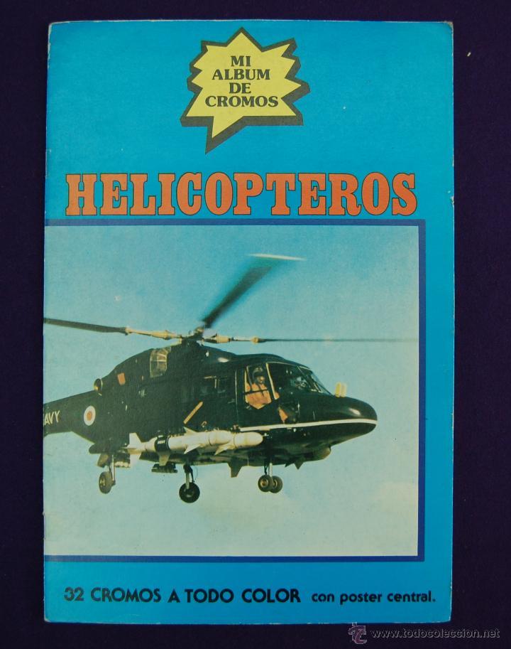 ALBUM DE CROMOS HELICOPTEROS. COMPLETO. EDITORIAL NUEVA SITUACION. AÑO 1980. (Coleccionismo - Cromos y Álbumes - Álbumes Completos)