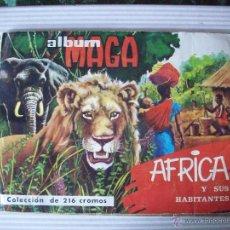 Coleccionismo Álbum: ÁLBUM MAGA ÁFRICA Y SUS HABITANTES (1965) COMPLETO -BUEN ESTADO. Lote 43280377