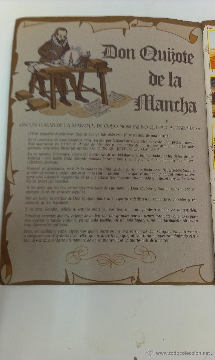 Coleccionismo Álbum: ALBUM DE CROMOS DON QUIJOTE DE LA MANCHA DE DANONE COMPLETO - Foto 3 - 43300521
