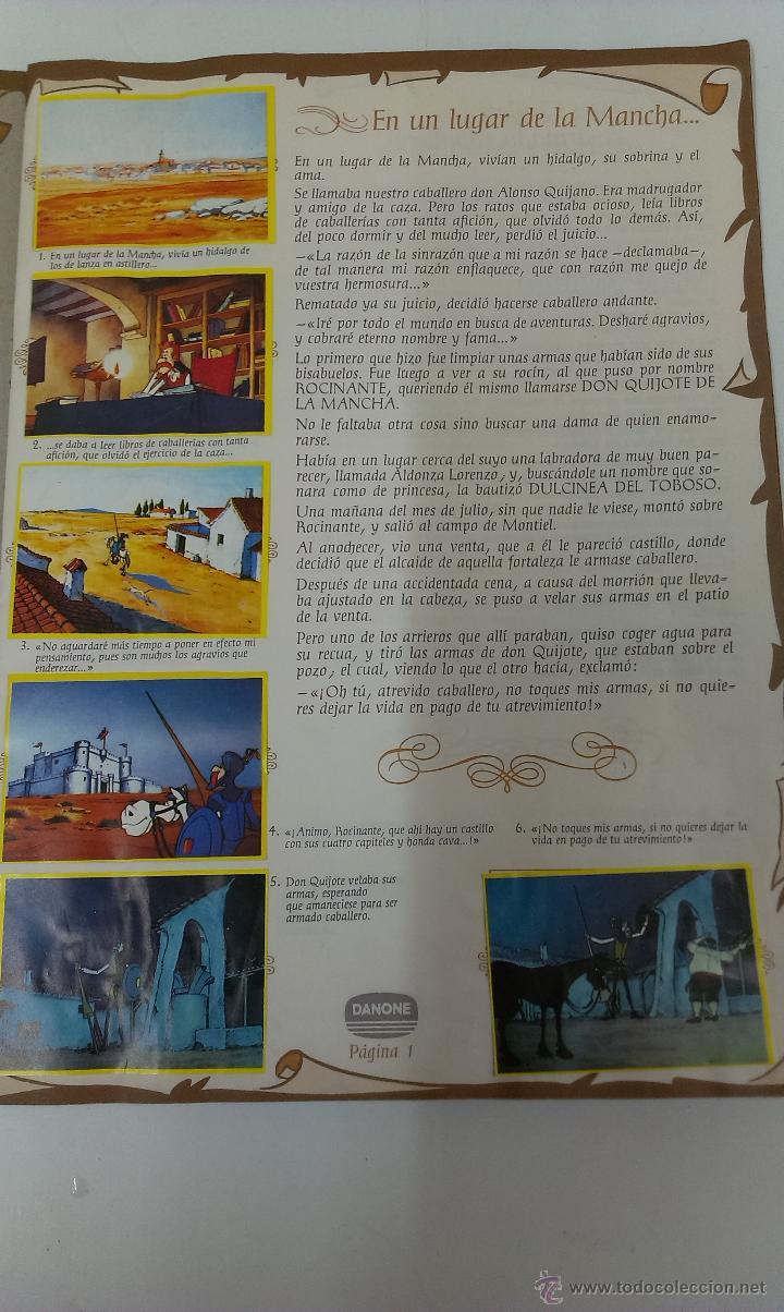 Coleccionismo Álbum: ALBUM DE CROMOS DON QUIJOTE DE LA MANCHA DE DANONE COMPLETO - Foto 4 - 43300521