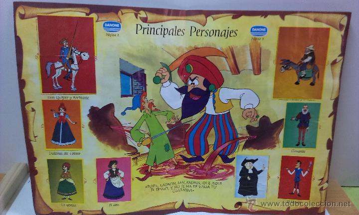 Coleccionismo Álbum: ALBUM DE CROMOS DON QUIJOTE DE LA MANCHA DE DANONE COMPLETO - Foto 6 - 43300521