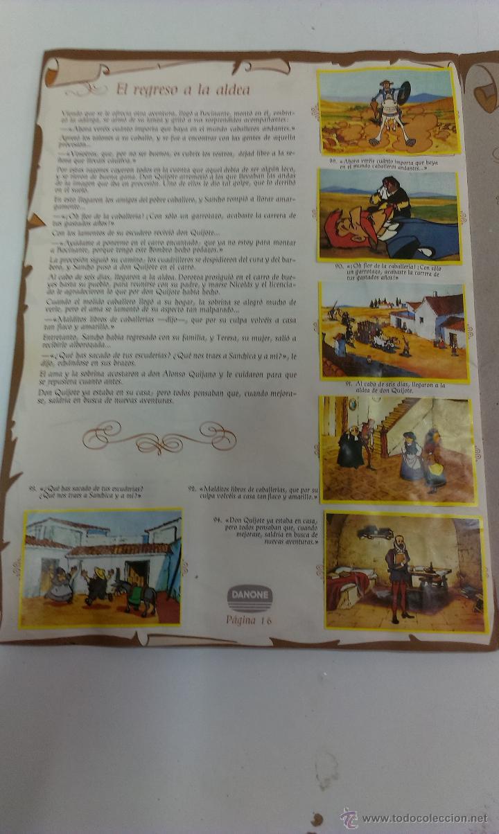 Coleccionismo Álbum: ALBUM DE CROMOS DON QUIJOTE DE LA MANCHA DE DANONE COMPLETO - Foto 8 - 43300521