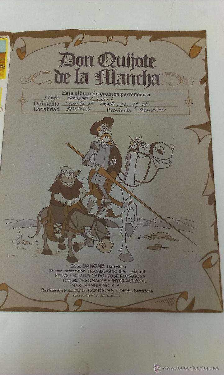 Coleccionismo Álbum: ALBUM DE CROMOS DON QUIJOTE DE LA MANCHA DE DANONE COMPLETO - Foto 9 - 43300521