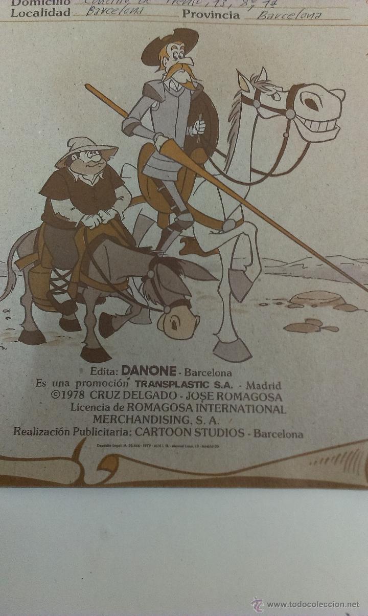 Coleccionismo Álbum: ALBUM DE CROMOS DON QUIJOTE DE LA MANCHA DE DANONE COMPLETO - Foto 10 - 43300521