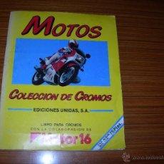 Coleccionismo Álbum: MOTOS 180 CROMOS COMPLETO. Lote 43351246