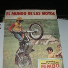 Coleccionismo Álbum: ALBUM EL MUNDO DE LAS MOTOS,BIMBO,COMPLETO. Lote 43465905