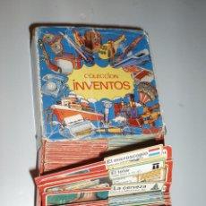 Coleccionismo Álbum: COLECCION FICHAS INVENTOS BIMBO COMPLETA CON SU CAJA ARCHIVADOR. Lote 43526469
