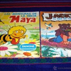Coleccionismo Álbum: LA ABEJA MAYA Y JACKY EL OSO DE TALLAC COMPLETO. DANONE AÑOS 70. REGALO QUELCOM INCOMPLETO.. Lote 43645341