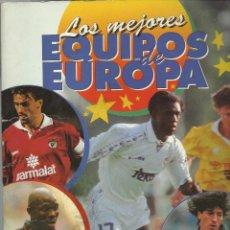 Coleccionismo Álbum: OCASION ALBUM COMPLETO MENOS DOS ESCUDOS LOS MEJORES EQUIPOS DE EUROPA - PANINI. Lote 43978405
