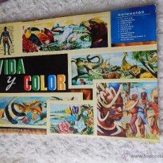 Coleccionismo Álbum: ALBUM DE CROMOS VIDA Y COLOR. Lote 44335212