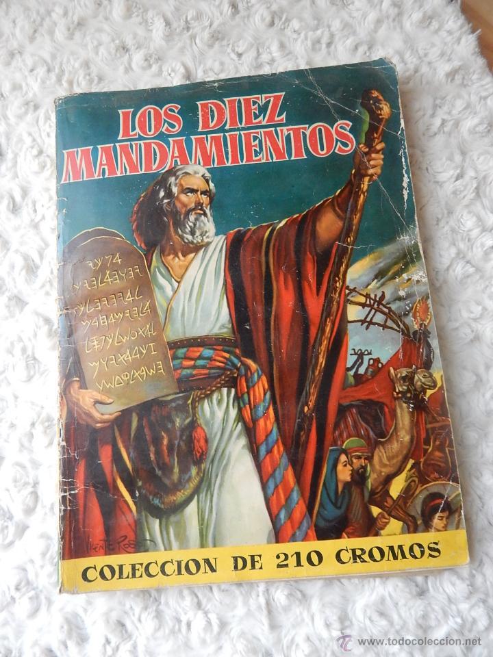 ALBUM DE CROMOS LOS DIEZ MANDAMIENTOS (Coleccionismo - Cromos y Álbumes - Álbumes Completos)
